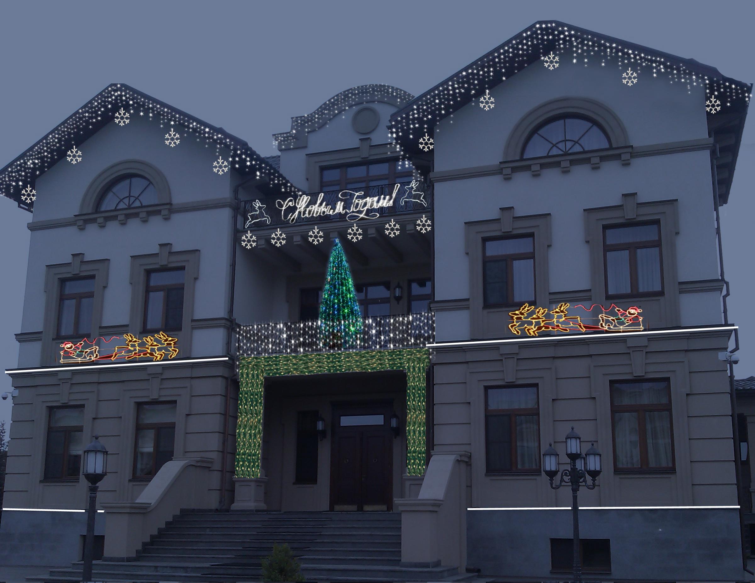 Архитектурное освещение (световая иллюминация) фасадов зданий